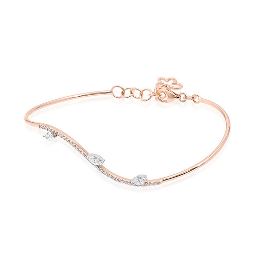 18K Rose Gold Diamond Bracelet DB01674