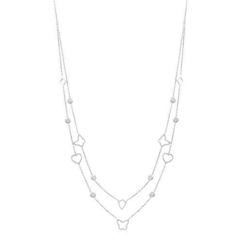 18K WhiteGold Diamond Necklace DN01148