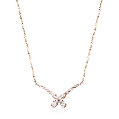 18K Rose Gold Diamond Necklace DN01173