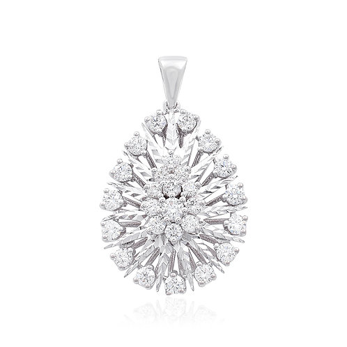 18K White Gold Diamond Pendant DP02459