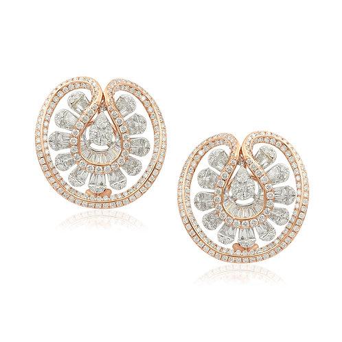 18K Rose Gold Diamond Earring DE03588