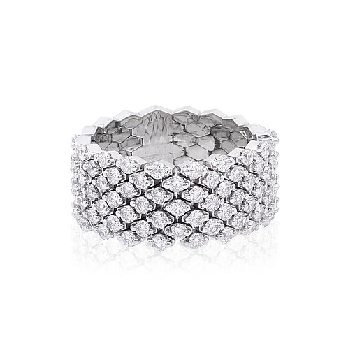 18KWhite Gold Diamond Ring DR04023