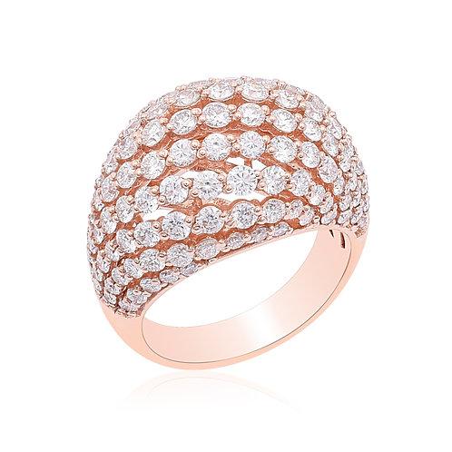 18K Rose Gold Diamond Ring DR04021