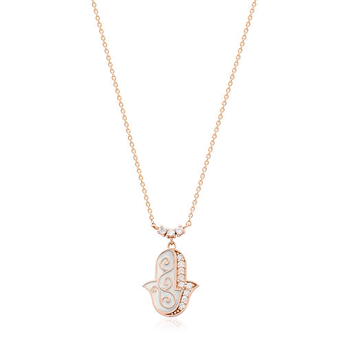 18K Rose Gold Diamond Necklace   DN01149