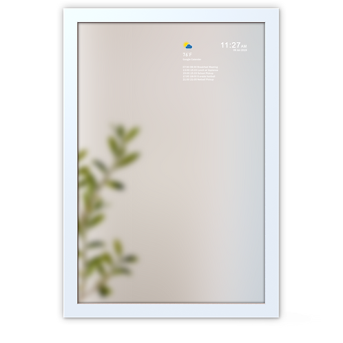 Smart Mirror - Large Frame - White