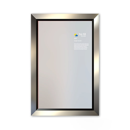 Smart Mirror - Large Frame - Silver