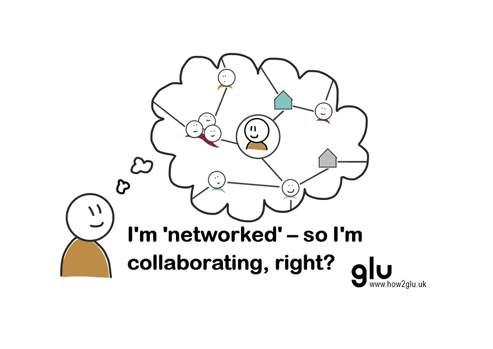 "A person thinking about their network - ""I'm 'networked' - so I'm collaborating, right?"""