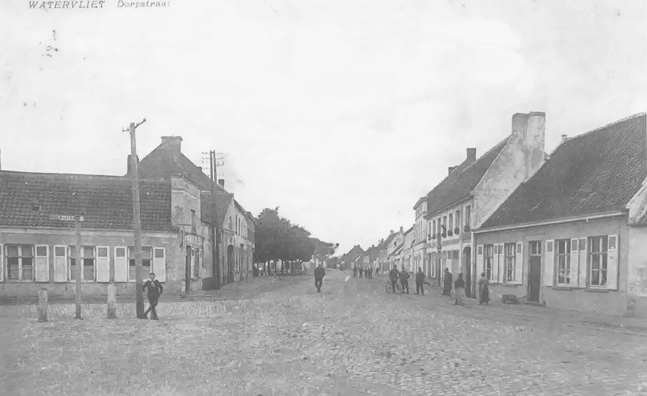 Watervliet - Dorpstraat 1918 (III-127).j