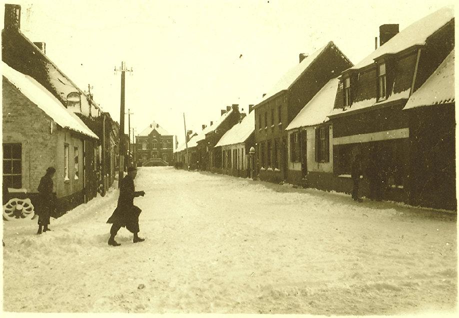 Sint-Margriete - Dorpstraat in de sneeuw