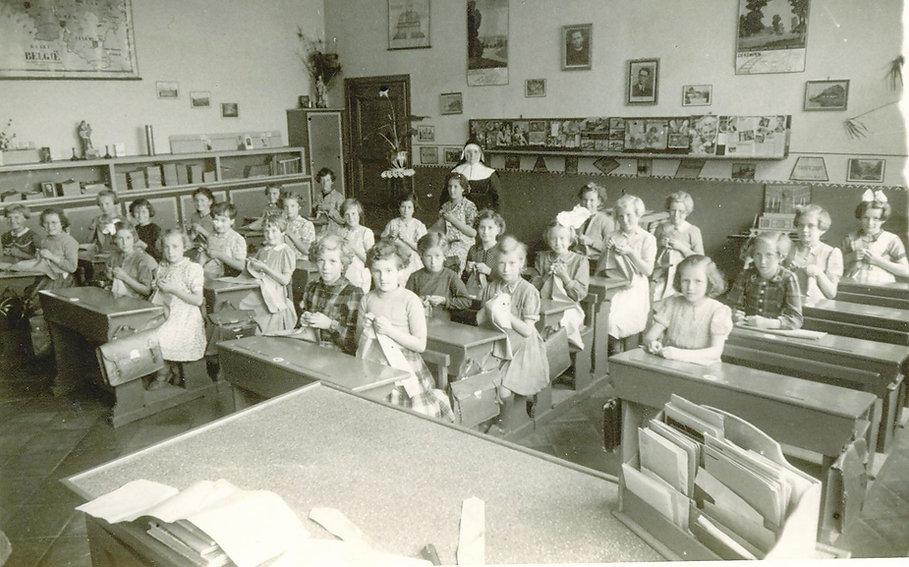 Sint-Laureins - klas meisjesschool 1954