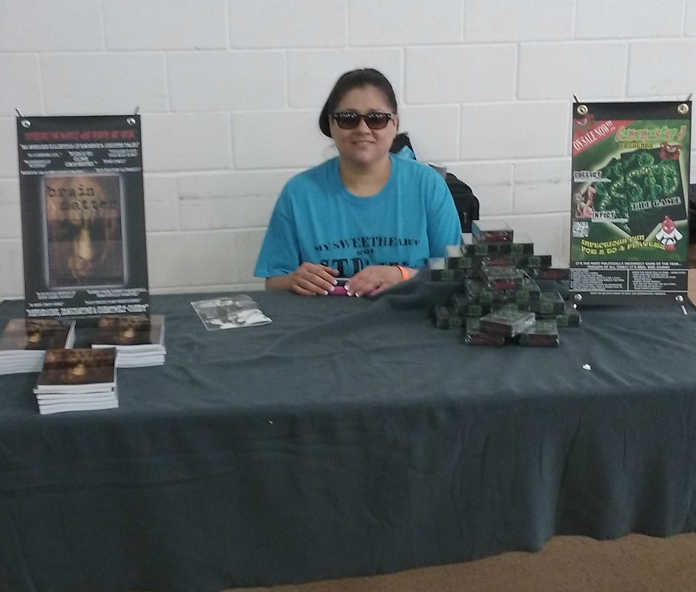 Margo working the booth.
