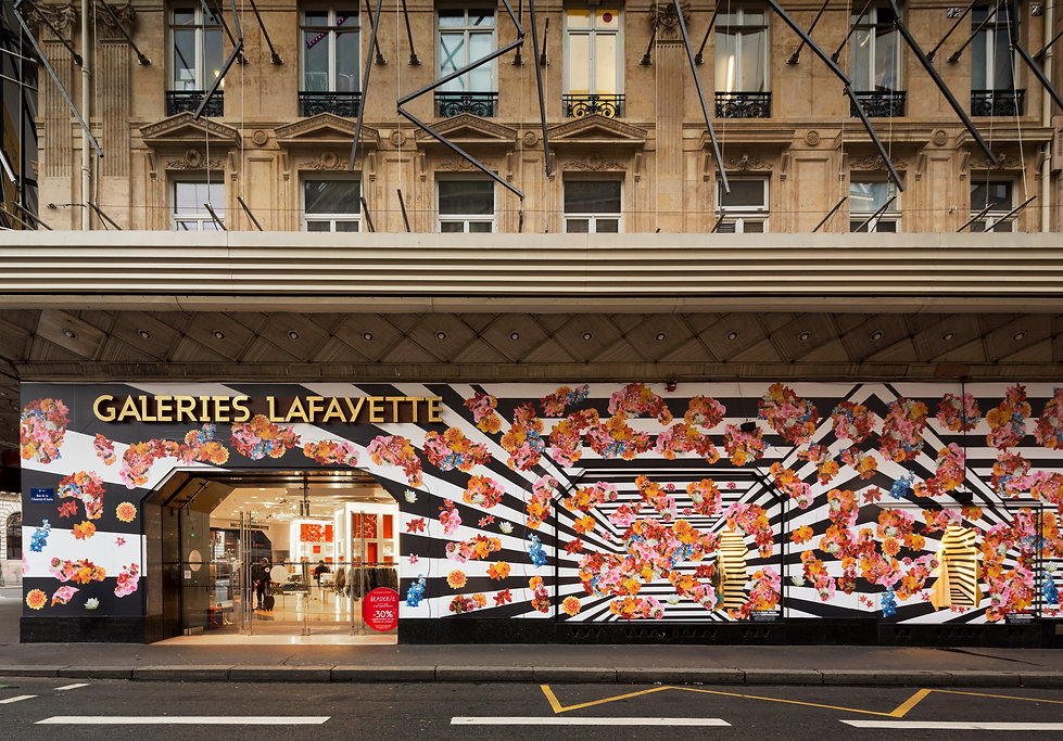 Patrick Croes Graphic Design for Jean-Paul Lespagnard at Galeries Lafayette Till we drop Paris