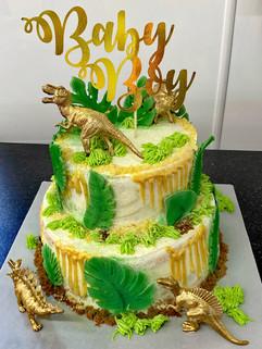 Two Tier dinosaur cake