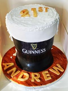 Guinness themed Cake