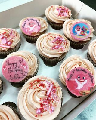 Baby Shark Theme Cupcakes