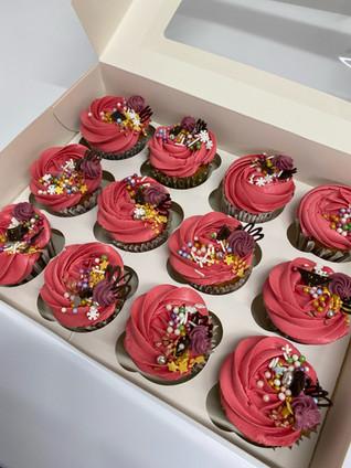 Dark Pink Cupcakes