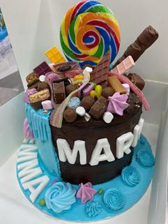 Candy mix cake