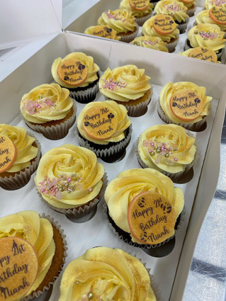 Gold Themed Cupcakes