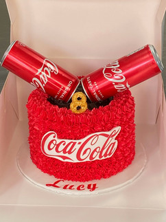Coca Cola Themed Cake