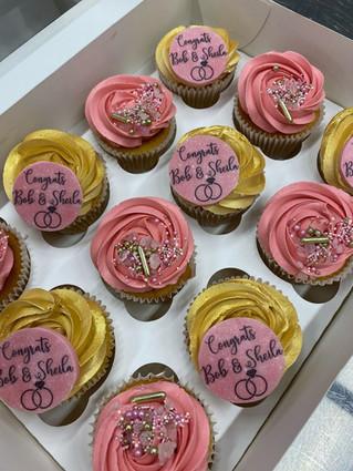 Gold Cupcakes