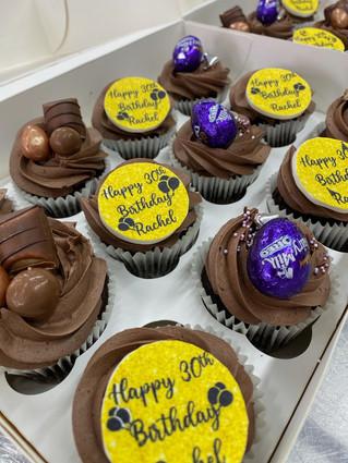 Chocolate themed cupcakes
