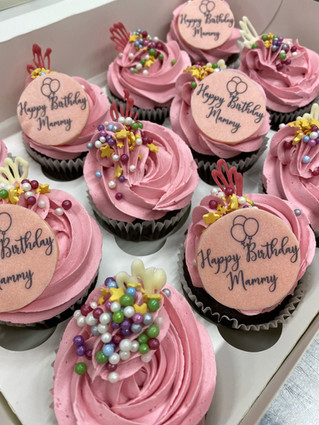 Light Pink Personalised Cupcakes