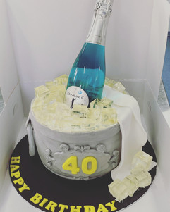 Champagne Bucket Cake