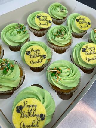 Green Theme Cupcakes (Standard Box)