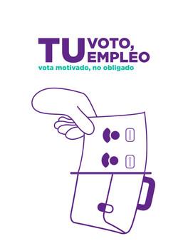 Tu voto, tu empleo