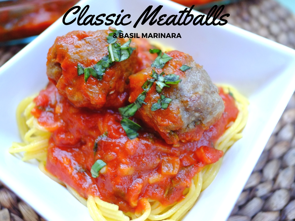 Classic Meatballs with Basil Marinar