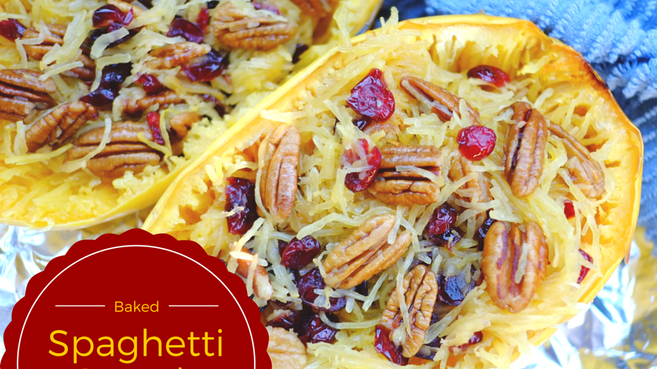 Spaghetti Squash with Pecan and Cranberries