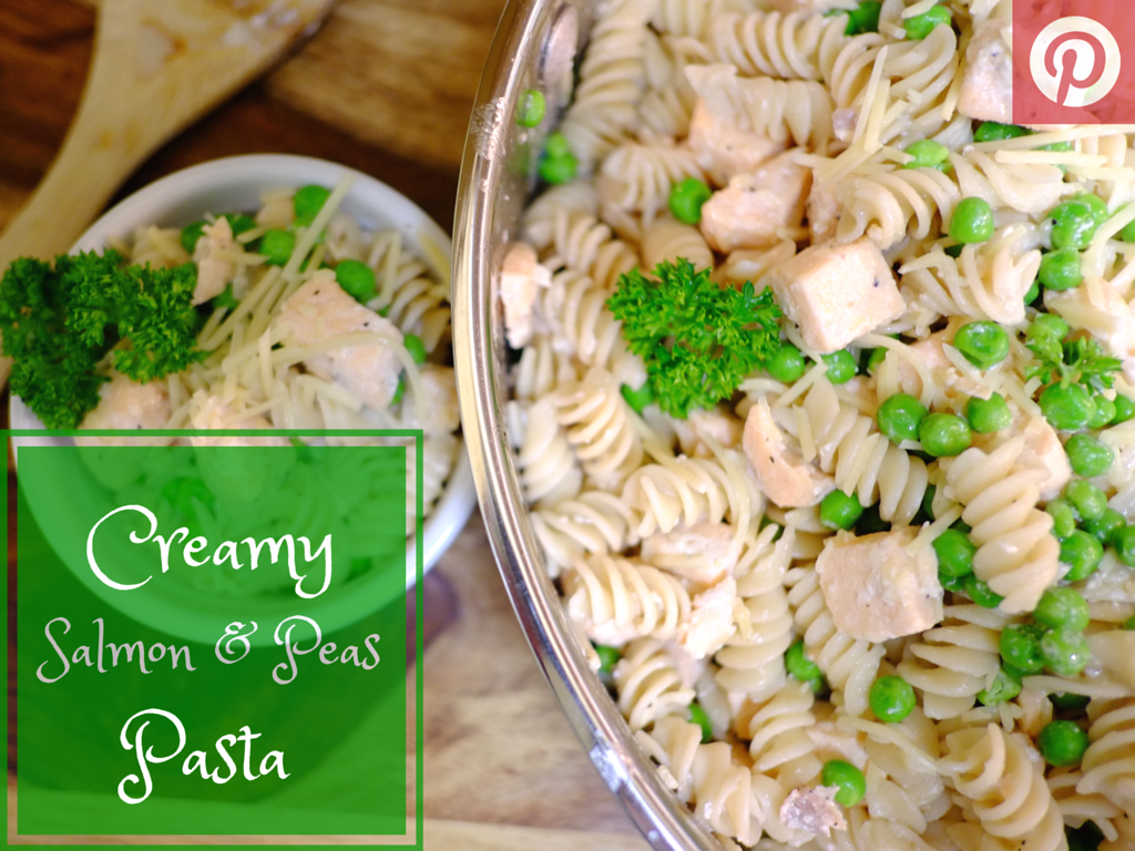 Creamy Salmon and Peas Pasta