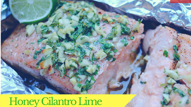 Honey Cilantro Lime Salmon
