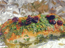 Cilantro Chile Lime Baked Salmon
