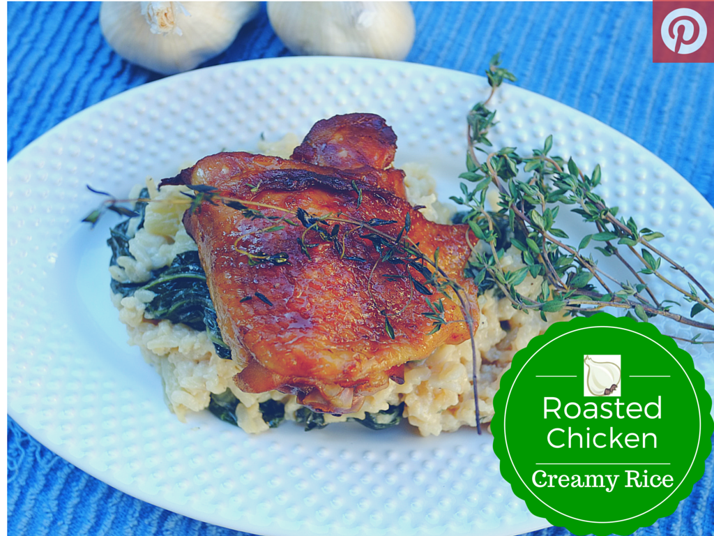 Roasted Chicken with Creamy Rice
