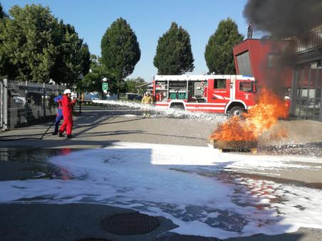 Heißer Abschluss der Feuerwehrjugend
