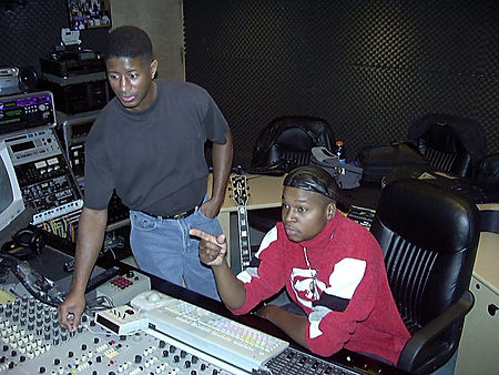 Grammy® Award-winning producer Bernard Terry, working with Wilfred at Studio - Area51