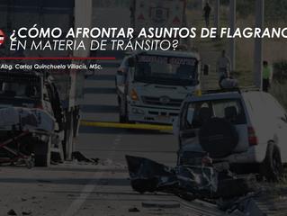 CÓMO AFRONTAR ASUNTOS DE FLAGRANCIA EN MATERIA DE TRÁNSITO