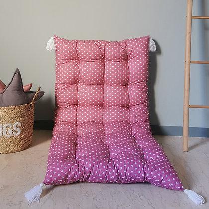 Purple dots cushion