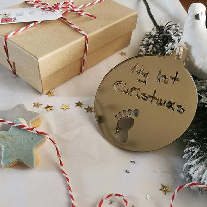 Golden mirror Christmas ball