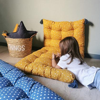 Mustard stars cushion