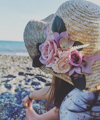 Kids summer flower hat