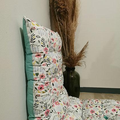 Floral summer cushion (mint)