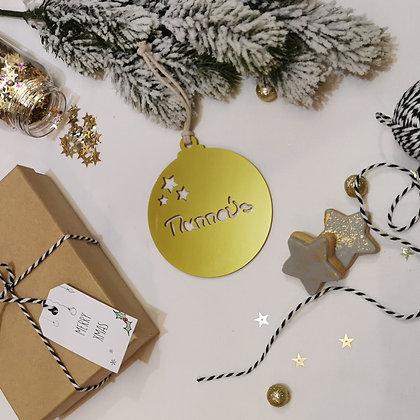 Metallic Gold Christmas ball