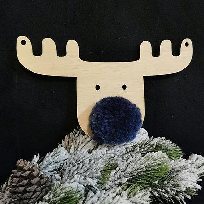 Midnight navy Reindeer (set of 3)