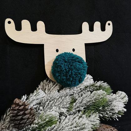 Teal blue Reindeer (set of 3)