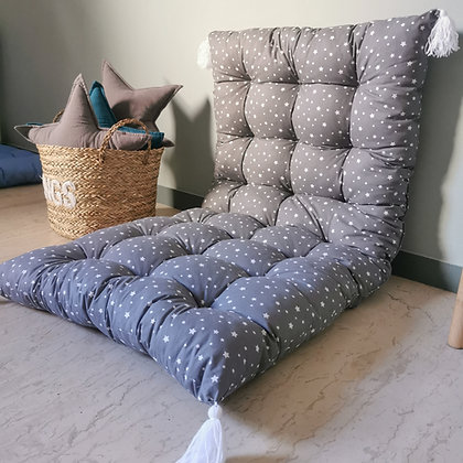 Grey star cushion