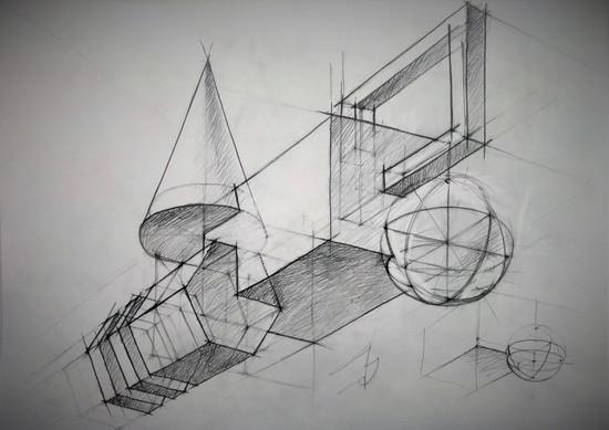 Линейно-конструктивный рисунок. Композиция_1..jpg