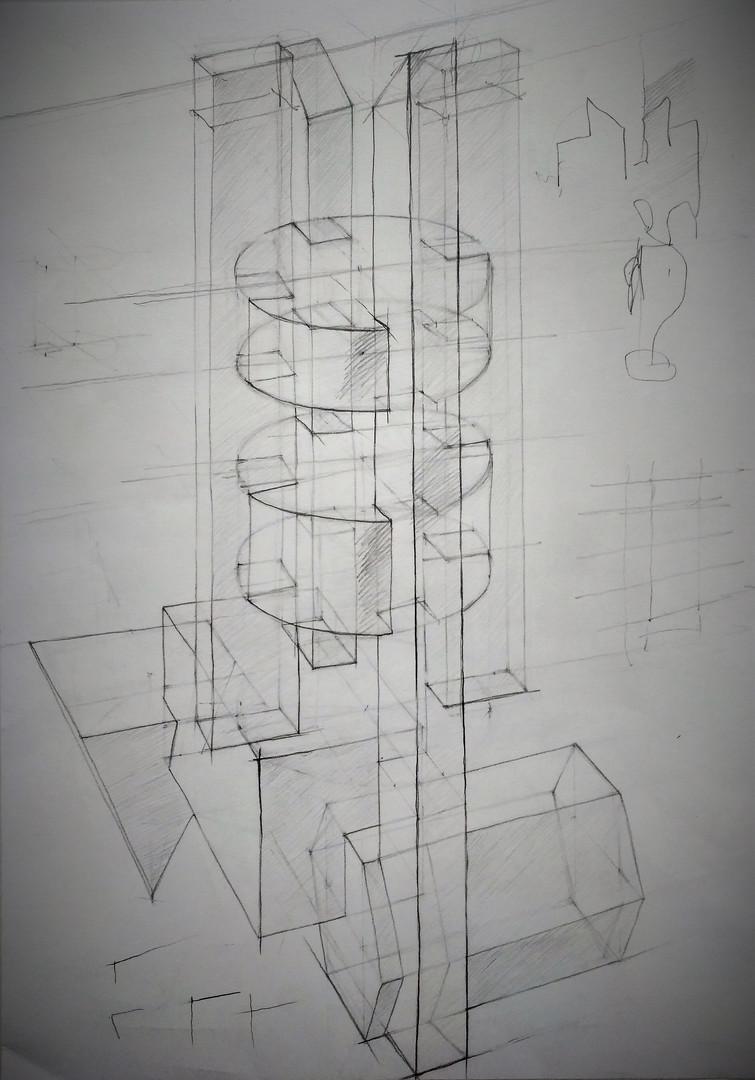 Линейно-конструктивный рисунок. Композиция_2..jpg