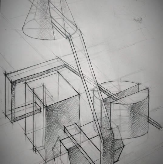 Линейно-конструктивный рисунок. Композиц